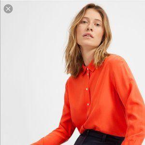 "Everlane ""The Clean Silk Relaxed"" Orange Shirt"